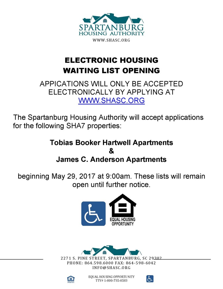 Public Notices Spartanburg Housing Authority Spartanburg South
