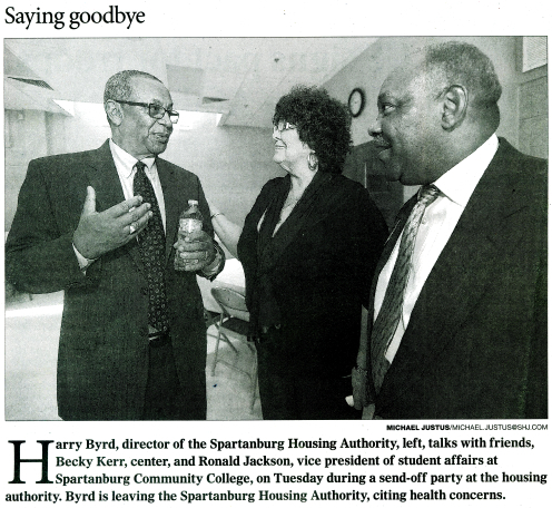 Mr. Byrd, Becky Kerr and Ronald Jackson