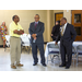 Mr. Byrd standing with Mr. Jackson and a gentleman in a yellow shirt and khakis